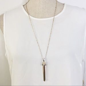 Stella And Dot Silver Bullet Necklace